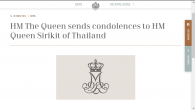เมื่อวันที่ 14 ต.ค. 2559 เว็บไซต์ของพระราชวงศ์เดนมาร์กได้เผยแพร่ข้อความพระราชสาส์นแสดงความเสียพระทัยจากสมเด็จ พระราชินีนาถมาร์เกรเธอที่ 2 แห่งเดนมาร์กถึงสมเด็จพระนางเจ้าพระบรมราชินีนาถฯ ความตามคำแปลภาษาไทยอย่างไม่เป็น ทางการว่า ข้าพเจ้ารู้ศึกโศกเศร้าเป็นอย่างยิ่งที่ได้รับทราบข่าวการเสด็จสวรรคตของพระบาทสมเด็จพระปรมินทรมหาภูมิพล อดุลยเดชฯ ที่ทรงเป็นที่รักยิ่ง ความสัมพันธ์ระหว่างพระราชวงศ์ของเรามีความใกล้ชิดกันมาโดยตลอดและเจ้าชายเฮนริกขอร่วมกับข้าพเจ้าในการแสดงความเสียพระทัยอย่างสุดซึ้งต่อพระองค์ท่าน พระบรมวงศานุวงค์ และประชาชนชาวไทย พระราชสาส์นแสดงความเสียพระทัย